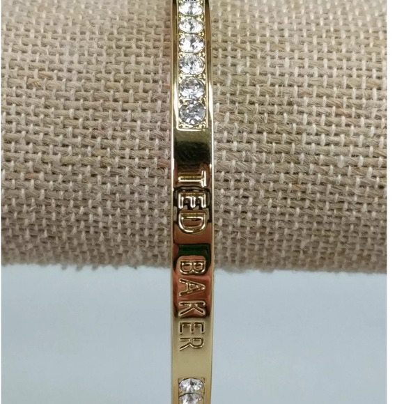 1a660d36b20fa Ted Baker New Gold Bracelet with Swarovski Crystal Boutique